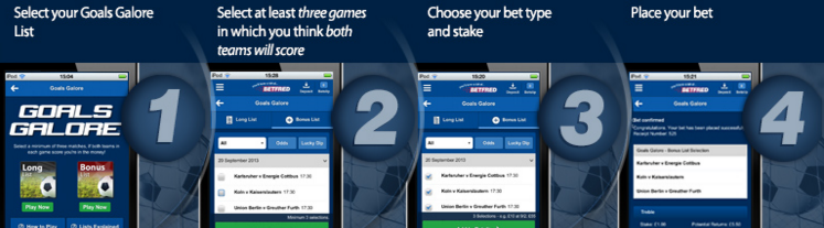 Goals Galore how to bet